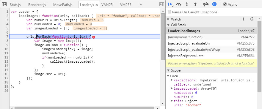 How to fix JavaScript errors more easily with Chrome's debugger